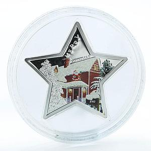 Samoa 5 dollars Merry Christmas Star silver proof coin 2012