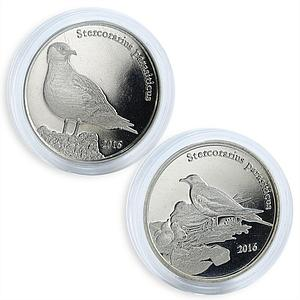 Shetland Islands 1 pound set of 2 coins Stercorarius parasiticus 2016