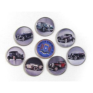 Somalia set of 7 coins Old Cars vintage car colorized souvenir set 2015