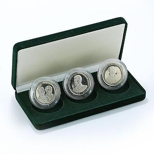 Spitsbergen 10 chervonets set of 3 coins Stalin Mao 2013