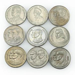 Thailand 10 baht set of 20 coins