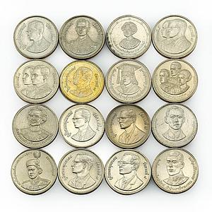 Thailand 2 baht set of 43 coins