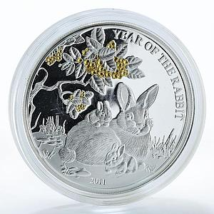 Togo 1,000 francs Year of the Rabbit Chinese calendar animals silver coin 2011