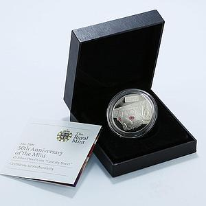Alderney 5 pounds 50th Anniversary of the Mini Carnaby Street proof silver 2009