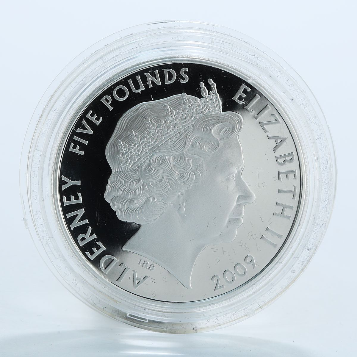 Alderney, 5 Pounds, 50th Anniversary of the Mini, Carnaby Street, 2009, Silver