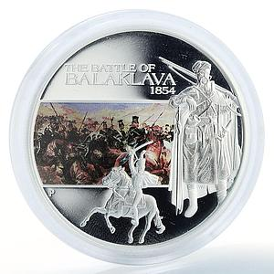 Tuvalu, 1 dollar Battle of Balaclava 1854 , silver coloured proof coin 2009