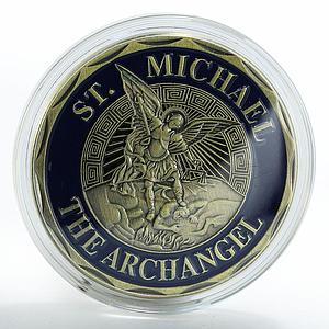 Archangel Michael Guardian of Police Officers Medal to Fallen Officers token