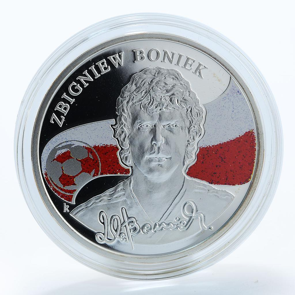 Armenia 100 drams Zbigniew Boniek Kings of Football silver proof coin 2009