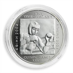 Ukraine 10 Hryvnas 28th Summer Olympic Games Athens Boxing Silver Proof 2003