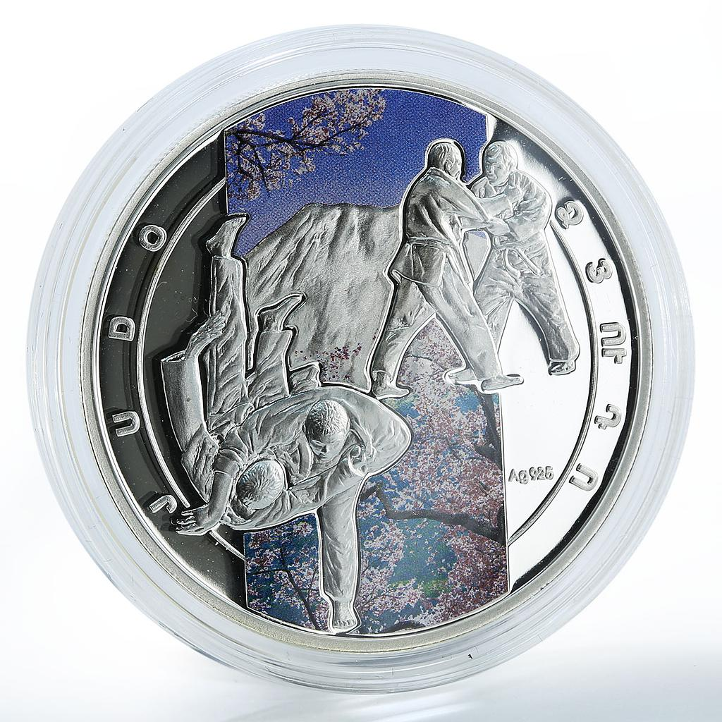 Armenia 1000 drams art of fighting Judo sport martial art silver coin 2011