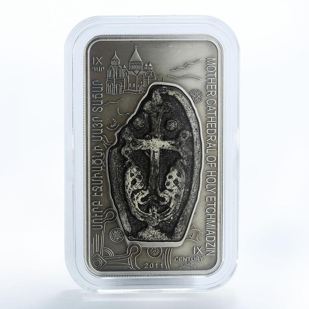 Armenia 1000 drams cathedral Etchmiadzin apostolic church silver coin 2011