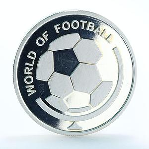 Uganda 1000 shillings World of Football proof silver coin 2002