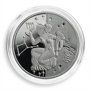 Ukraine 5 hryvnias Signs of the Zodiac Virgo Silver Proof coin 2008