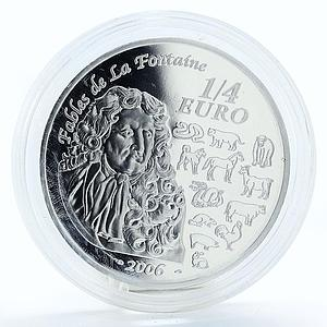 France 1/4 euro Year of the Dog silver coin 2006