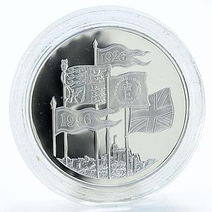 United Kingdom 5 pounds 70th Anniversary of birth Qween silver coin 1996