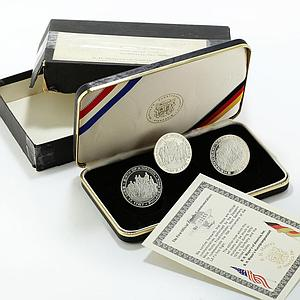 Germany set 3 medal First Official Zeppelin Commemoratives 1975/1976