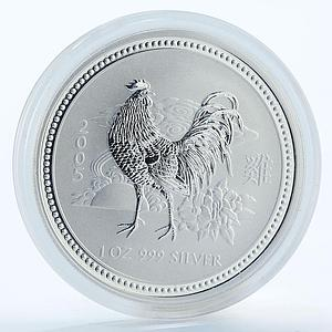 Australia 1 dollar Year of the Rooster Lunar Series I 1 Oz Silver coin 2005