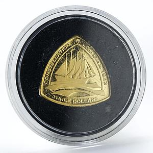 Bermuda 3 dollars The Constellation gold proof coin 2006