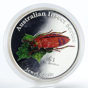 Cook Islands 1 dollar Jewel Beetle proof silver coin 2000