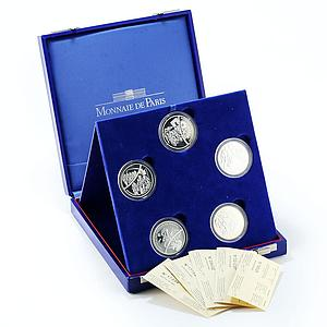 France set of 5 coins The Tour De France silver 1903-2003