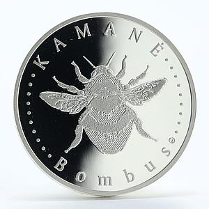 Lithuania 50 litu Bumblebee proof silver coin 2008