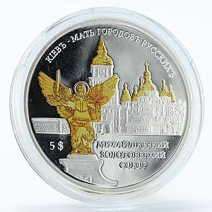 Solomon Islands 5 dollars Monastery St. Michael's Angel Kyiv Ukraine coin 2012