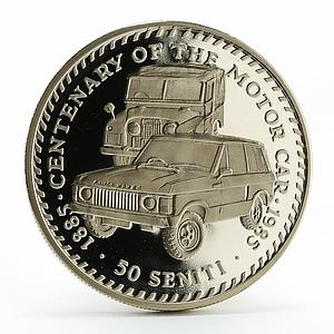 Tonga 50 seniti Rover cars proof copper-nickel coin 1985