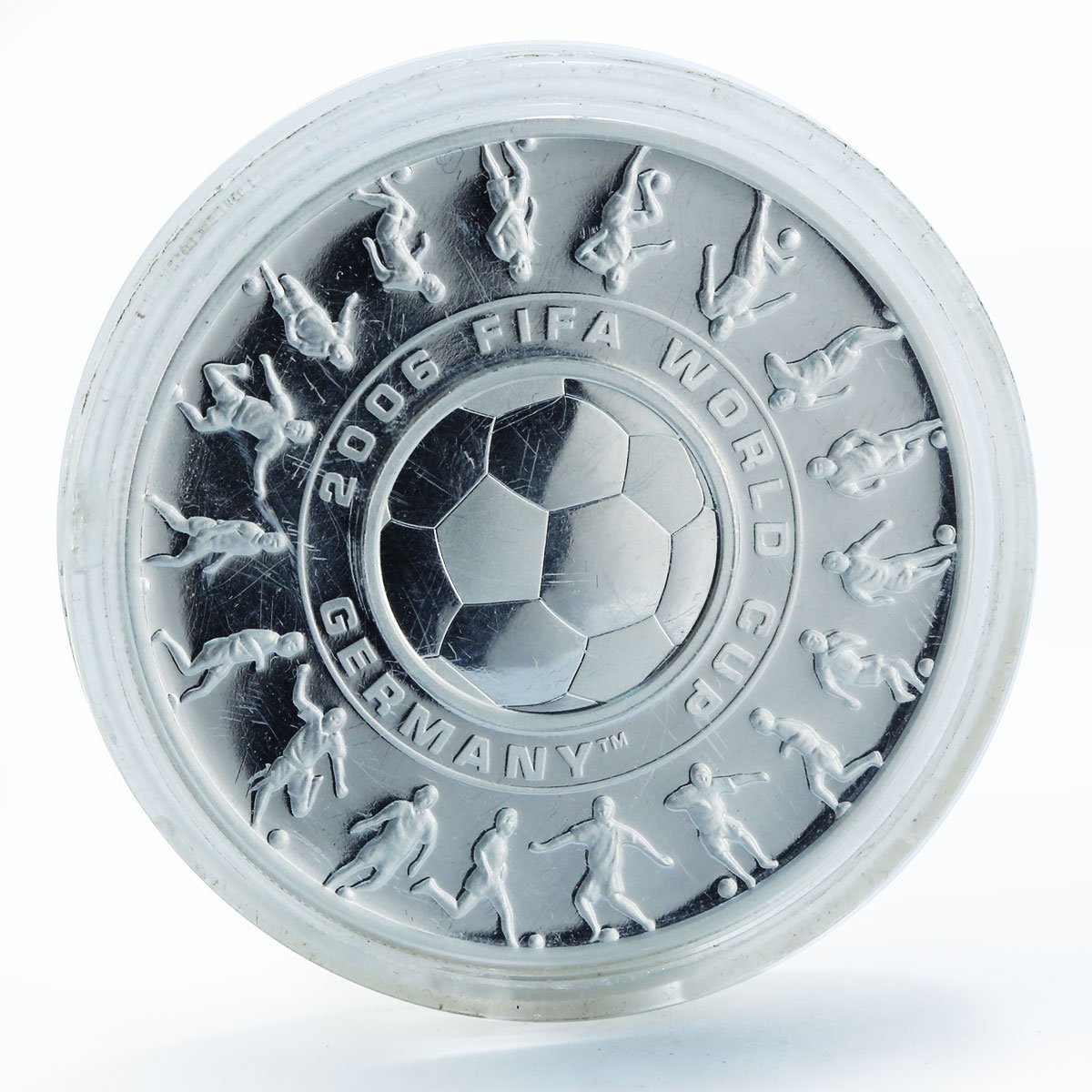 Australia 1 dollar 25 cents FIFA World Cup Holey dollar & Dump silver coin 2006