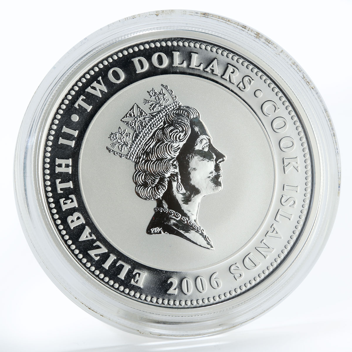 Cook Islands 2 dollars Anna Akhmatova Poets of the Silver Age silver coin 2006
