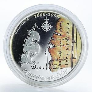 Australia 1 dollar 400 years of the discovery of Australia Ship Silver Coin 2006