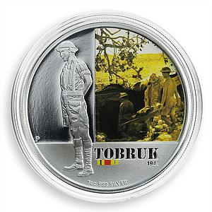 Australia 1 dollar Famous Battles Tobruk 1941 Silver Coloured Proof Coin 2011