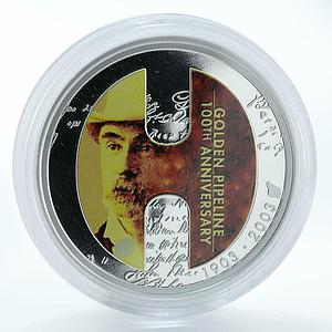 Australia 1 dollar Golden Pipeline proof silver coin 2003