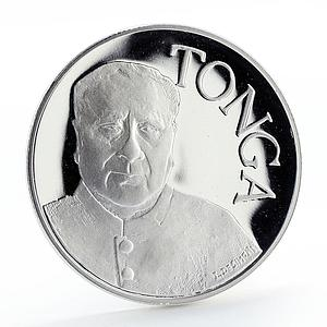 Tonga 1 pa'anga 50th Anniversary Food Organization silver coin 1995