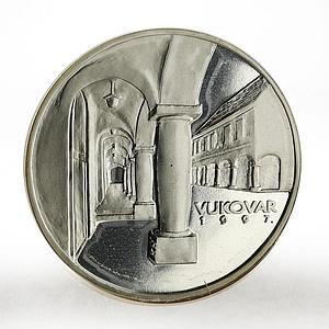 Croatia 150 kuna Vukovar proof silver coin 1997