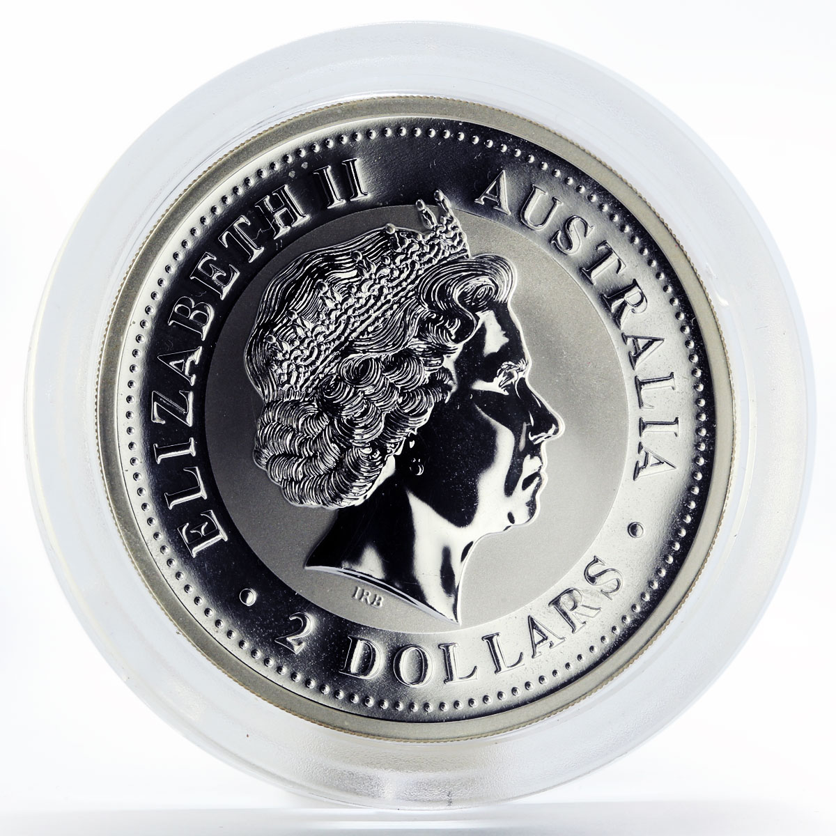 Australia 2 dollars Year of the Monkey Lunar Series I 2 oz silver coin 2004