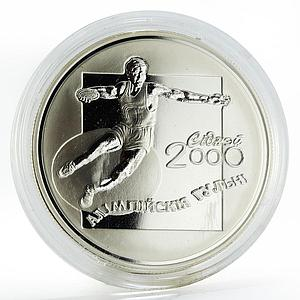 Belarus 20 rubles Discus Thrower proof silver coin 2000
