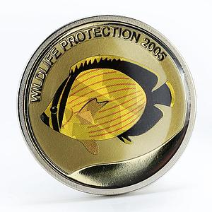 Congo 5 francs Yellow Fish copper-nickel coin 2005