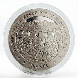 Chad 1000 francs Forgotten Cultures Jericho proof silver coin 1999