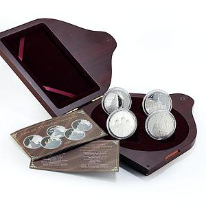 Belarus set of 4 coins Orthodox Cathedrals proof silver 2010