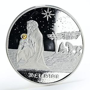 Congo 10 francs Melchior Star crystal proof silver coin 2005