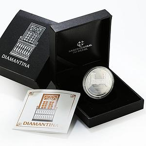 Brazil 5 reais Diamantina World Heritage Unesco silver coin 2013