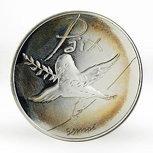 France 50 euro Peace - Spring Summer bird silver coin 2014