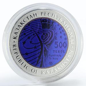 Kazakhstan 500 tenge International Space Station silver coin 2013