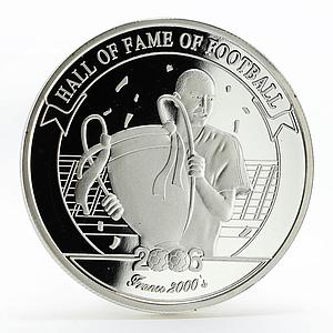 Uganda 2000 shillings Hall of Fame of Football France 2000s silver coin 2006