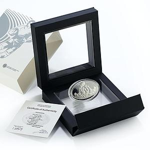 Georgia 5 lari Rugby World Cup proof silver coin 2019