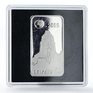 Solomon Islands 2 dollars 1000 Years Leipzig proof silver coin 2015