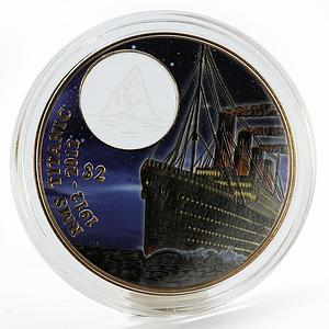 British Virgin Islands 2$ R.M.S. Titanic III proof colored bronze coin 2012