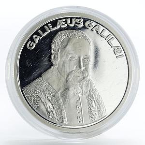 Italy 1 ecu Galileo Galilei astronomy proof silver coin 1993