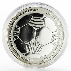 Croatia 150 kuna FIFA World Cup South Africa Football silver coin 2010