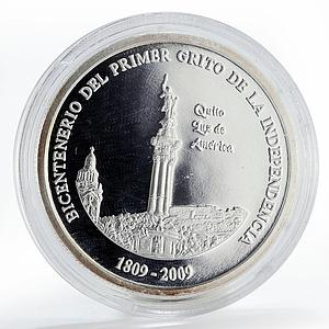 Ecuador 1 sucre Chuquisaca Revolution proof silver coin 2009